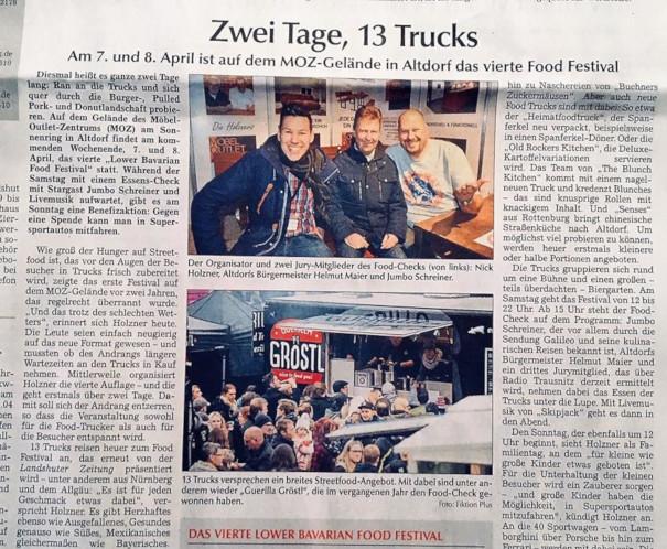 Landshuter Zeitung - Vorbericht zum 4. Lower Bavarian Food Festival