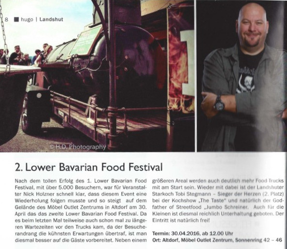 Hugo Magazin - Vorbericht zum 2. Lower Bavarian Food Festival