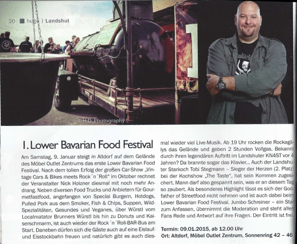 Hugo Magazin - Vorbericht zum 1. Lower Bavarian Food Festival