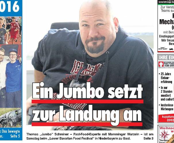 Wochenblatt Dingolfing – Vorbericht zum 3. Lower Bavarian Food Festival.