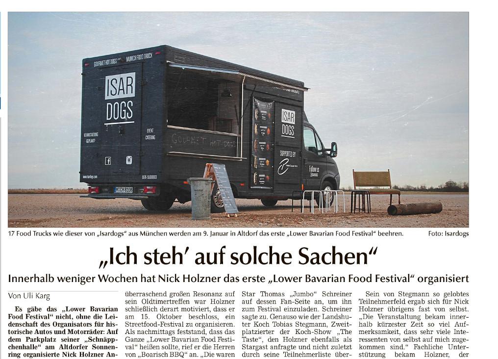 Landshuter Zeitung - Vorbericht zum 1. Lower Bavarian Food Festival (komplett)