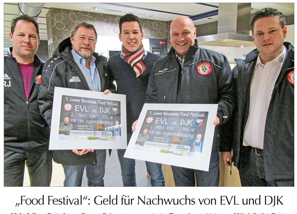 Landshuter Zeitung - Preisübergabe Eisstockcontest EVL<>DJK